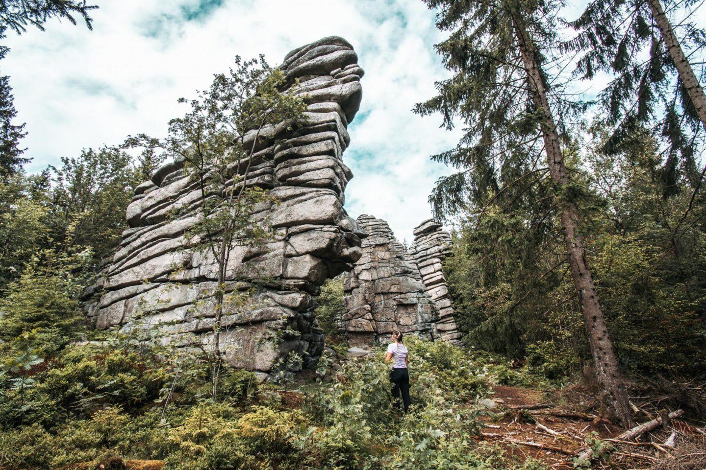 Fichtelgebirge Felsen Wanderung